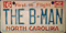 The B-Man - NC license plate